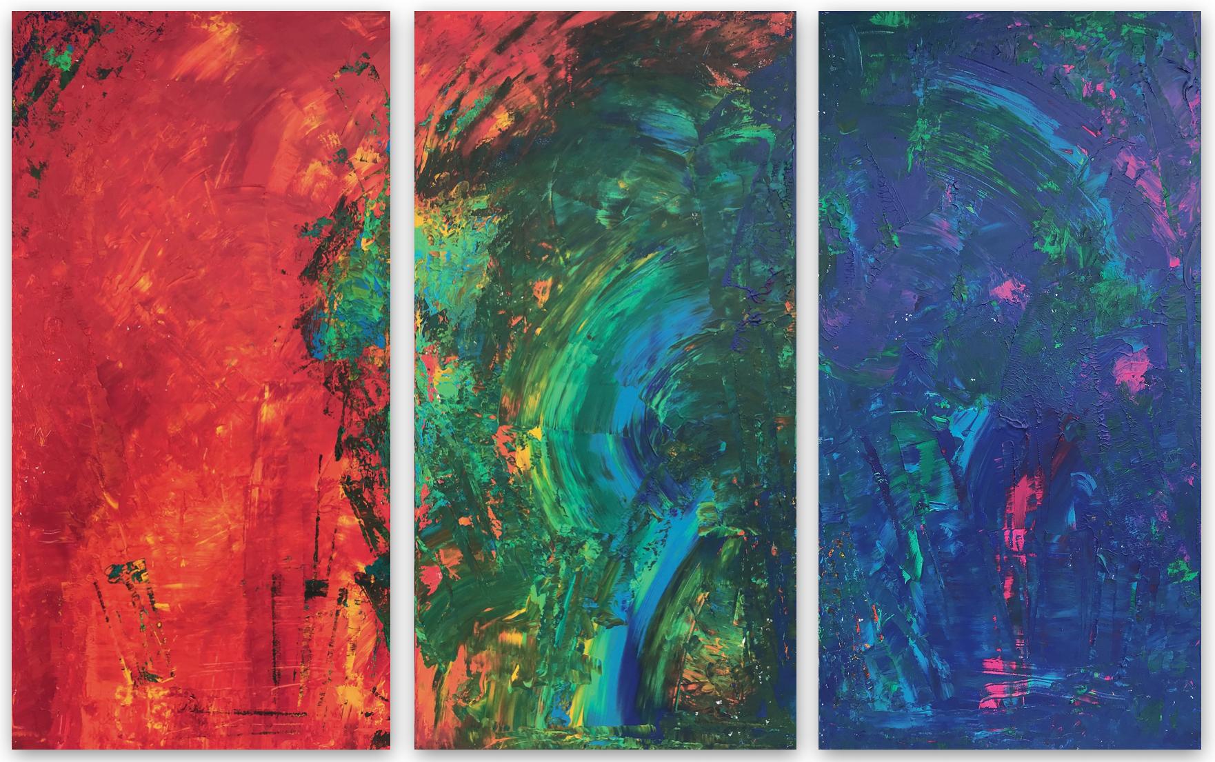 Arc en Ciel Nr. 23/1 - 23/3 Triptychon